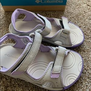 Grey and Purple Sandals